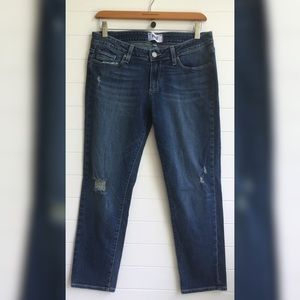 [PAIGE] Jimmy Jimmy Crop Distressed Medium Wash